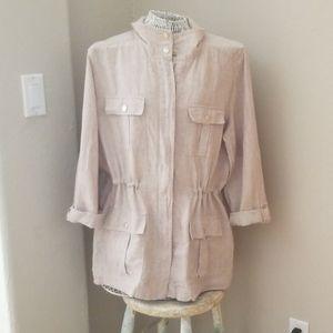 Jones New York linen utility jacket